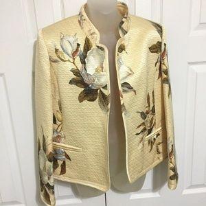 Linda Allard Ellen Tracy Size 8 Jacket Gold Blazer